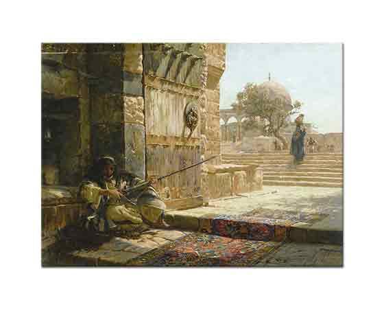 Gustav Bauernfeind Mescid-i Aksa Kapısında Nöbetçi