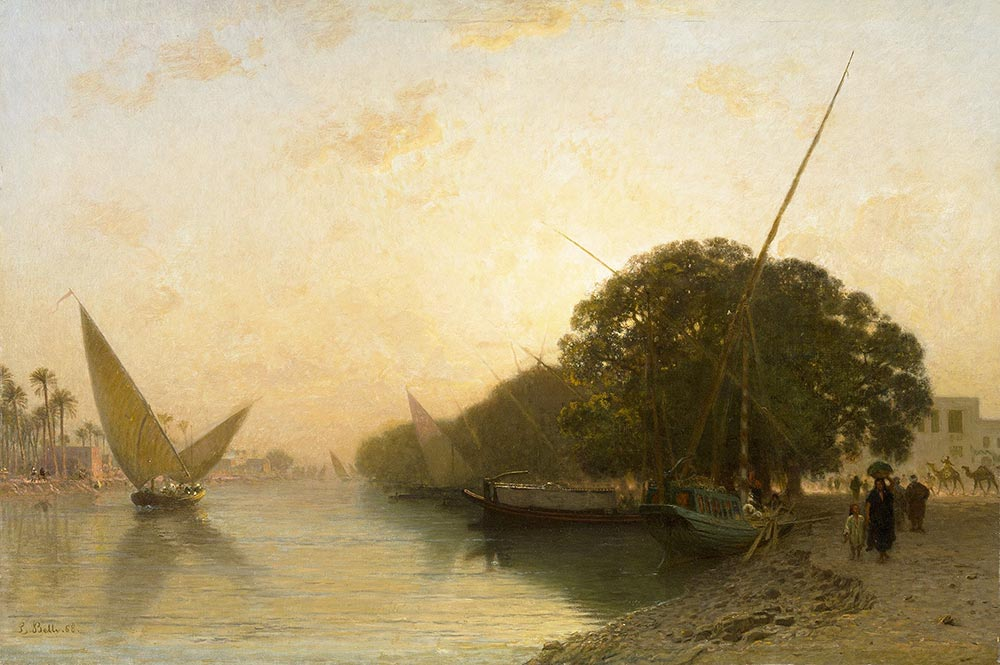 Leon Belly Nil Kıyısından Manzara