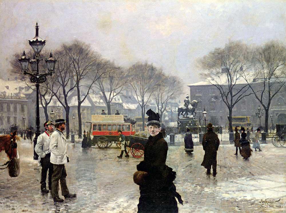 Paul Gustav Fischer Kopenhag'da Kış Günü