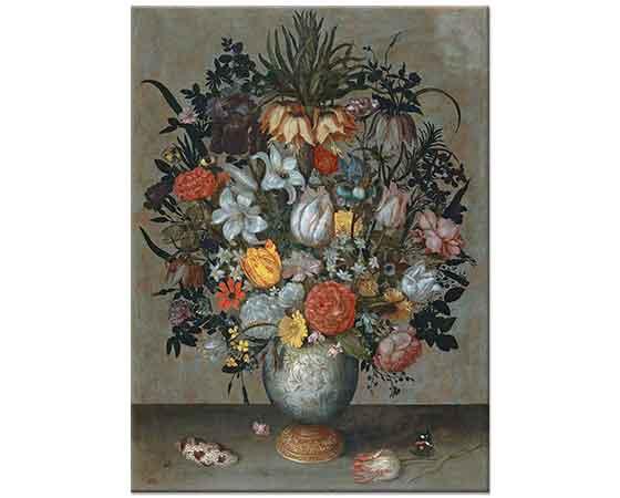 Ambrosius Bosschaert the Elder Çin Vazosunda Çiçekler