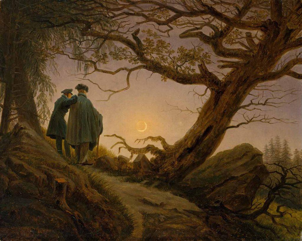 Caspar David Friedrich Ayışığında İki Adam