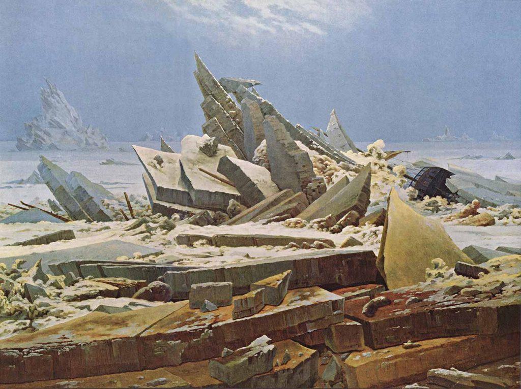 Caspar David Friedrich Buz Denizi