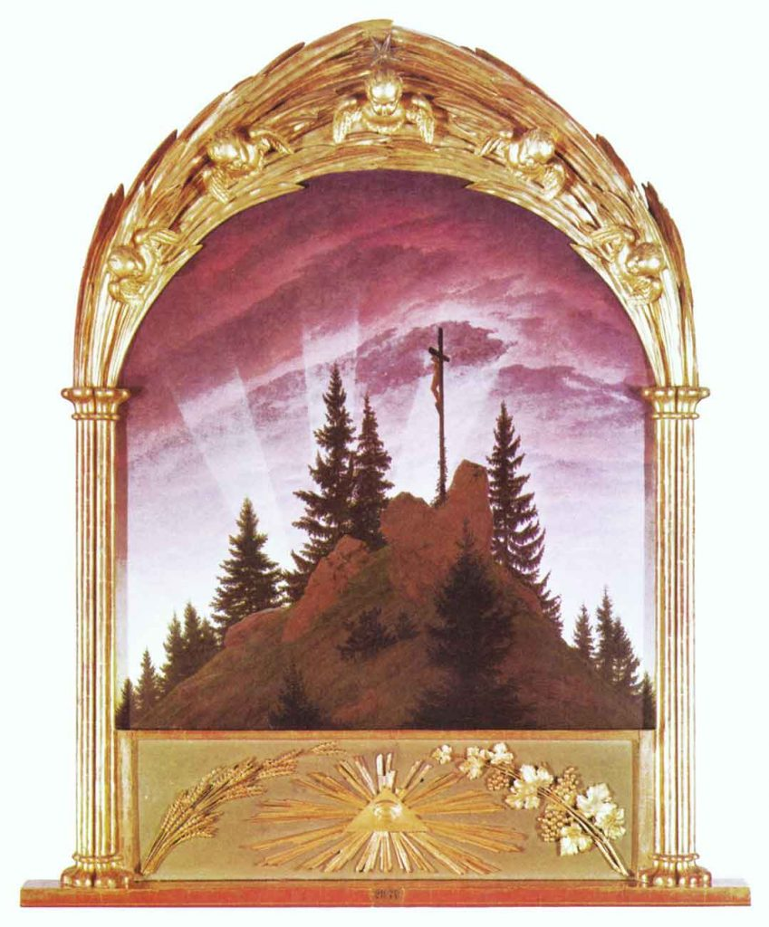Caspar David Friedrich Dağlarda Çarmıh