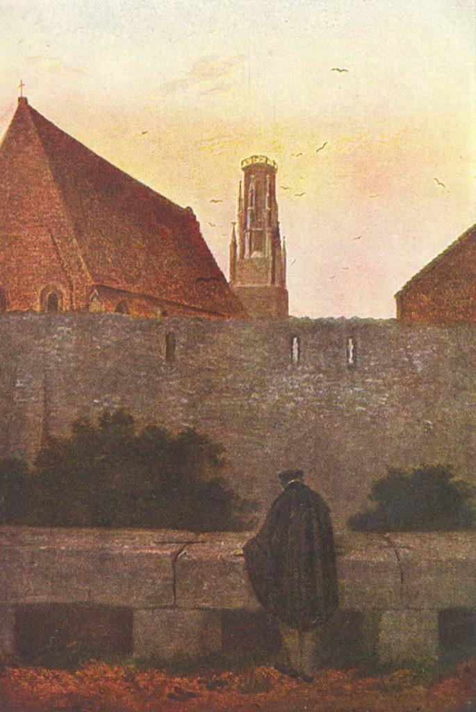 Caspar David Friedrich Şehir Duvarında