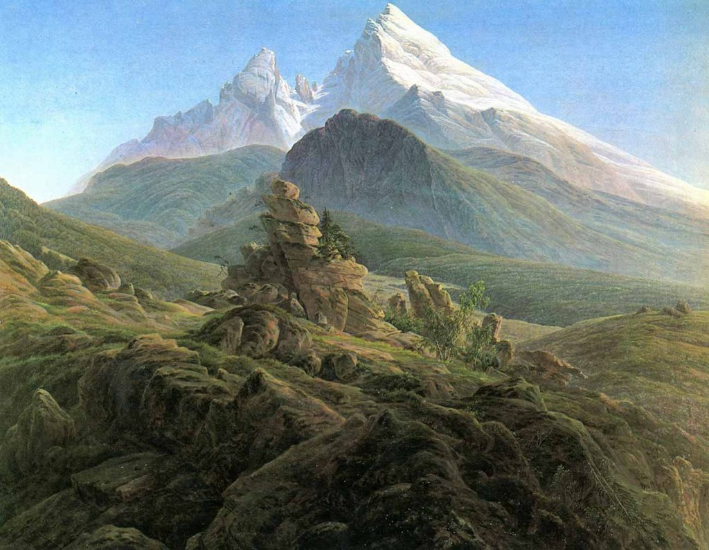 Caspar David Friedrich Watzmann Tepesi