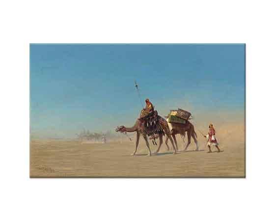 Charles Theodore Frere Arap Çölünde Kervan