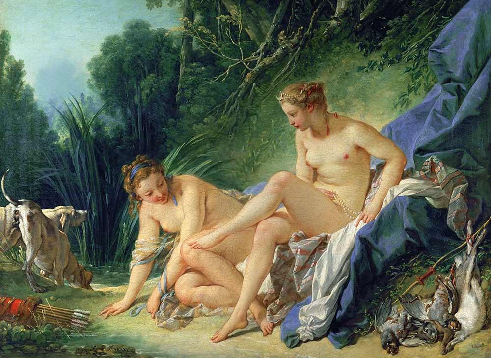 François Boucher Diana Yıkanırken