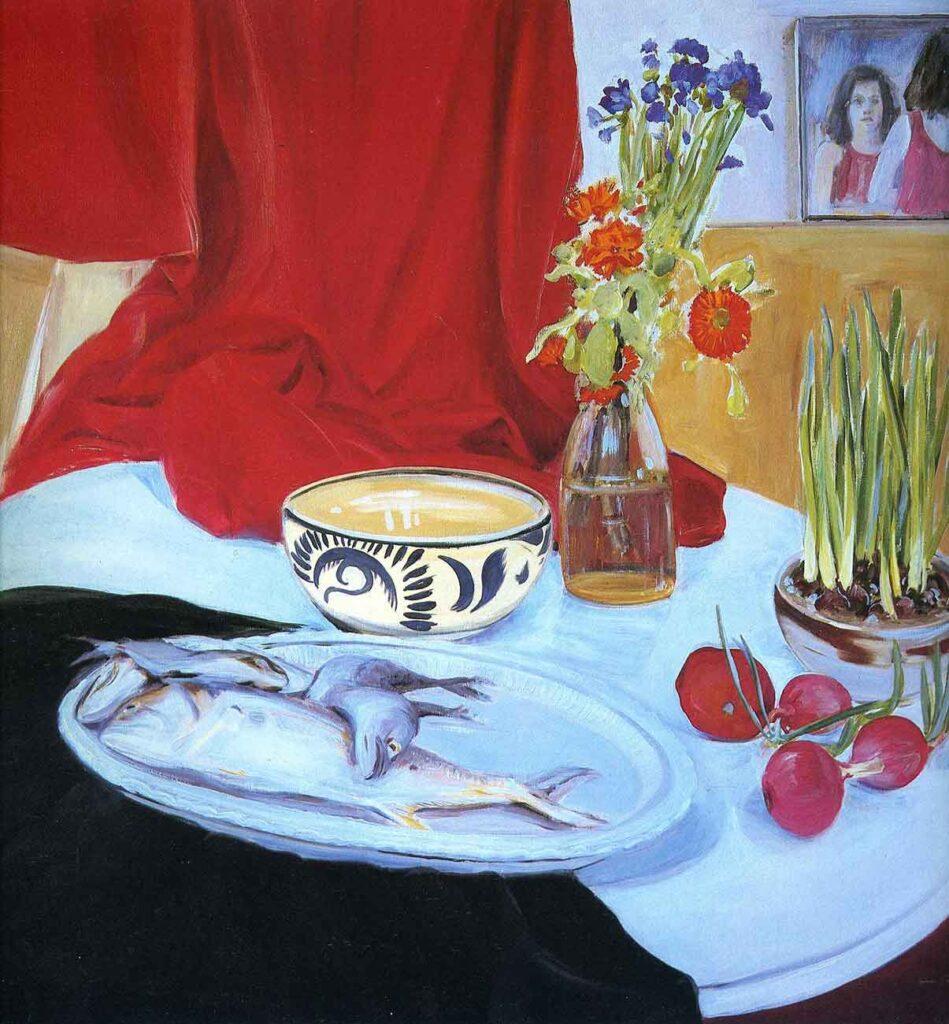 Jane Freilicher Balıklı Natürmort