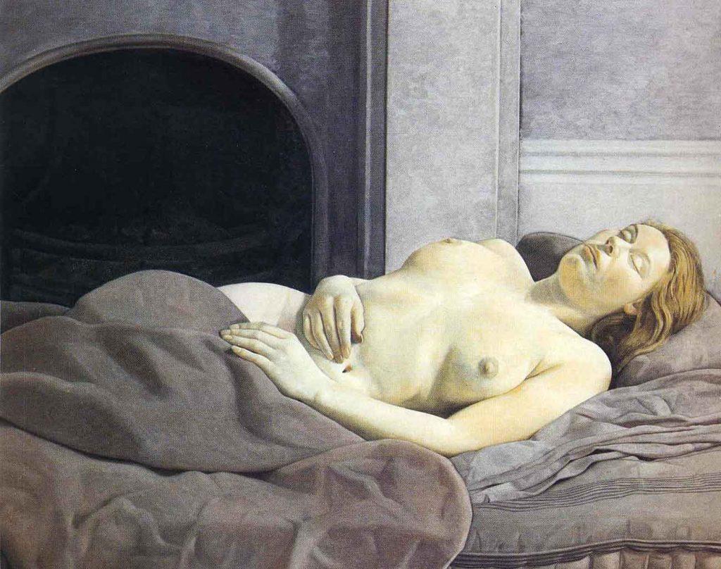 Lucien Freud Uykuda Nü