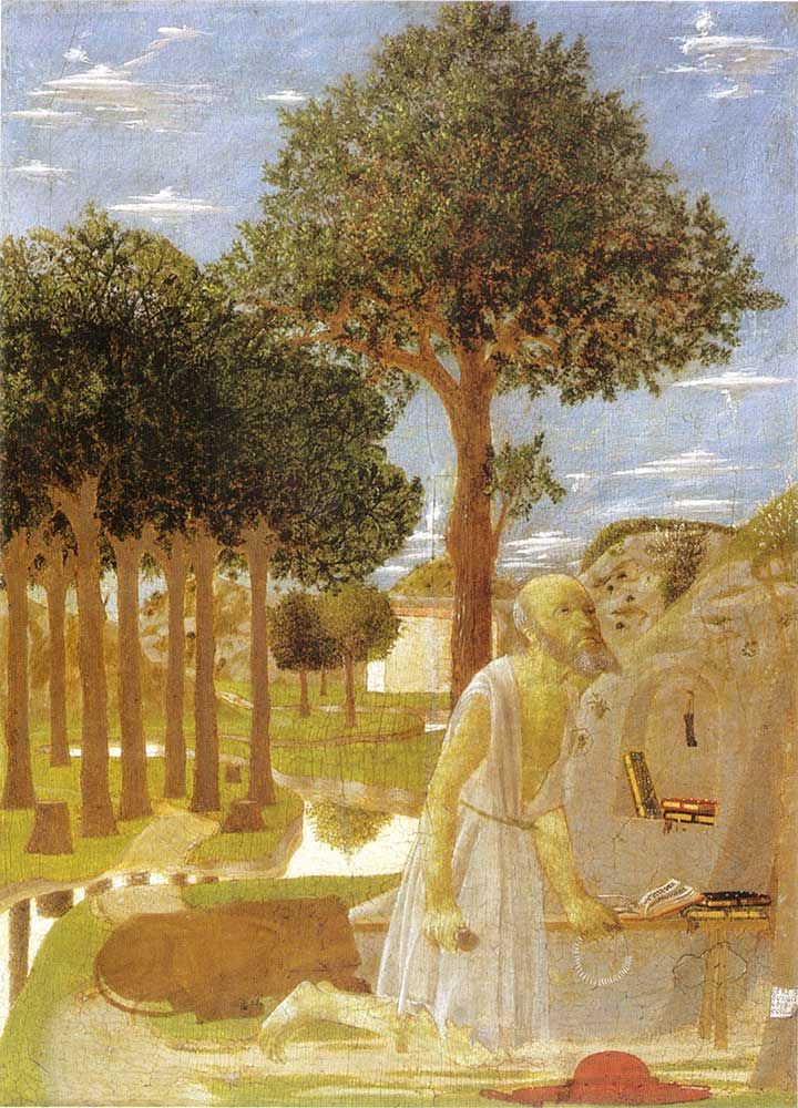 Piero Della Francesca Aziz Jerome'un Kefareti