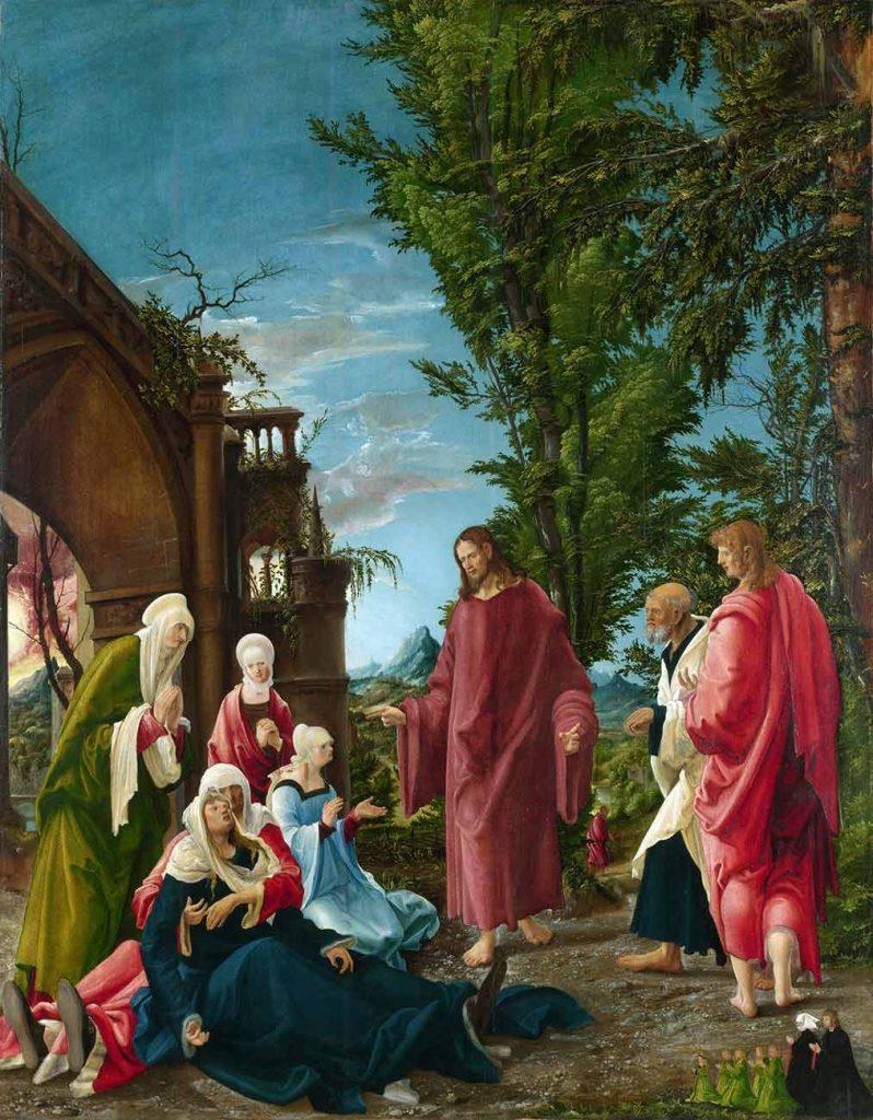 Albrecht Altdorfer Mesih Annesinden Ayrılırken