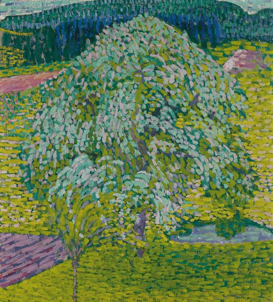 Cuno Amiet Çiçekli Meyve Ağacı