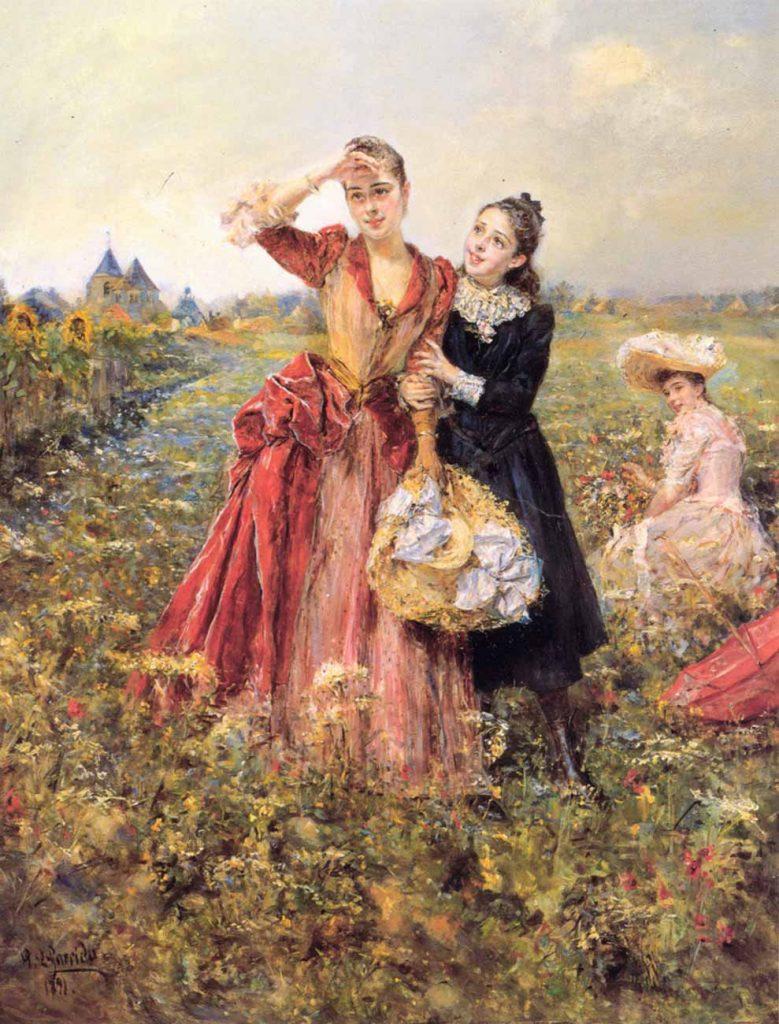 Eduardo Leon Garrido Kırçiçekleri Toplarken