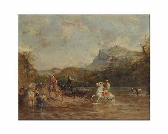 Eugene Fromentin Nehri Geçen Araplar