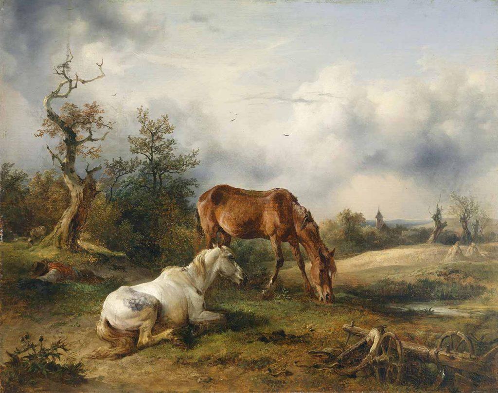 Friedrich Gauermann İki At