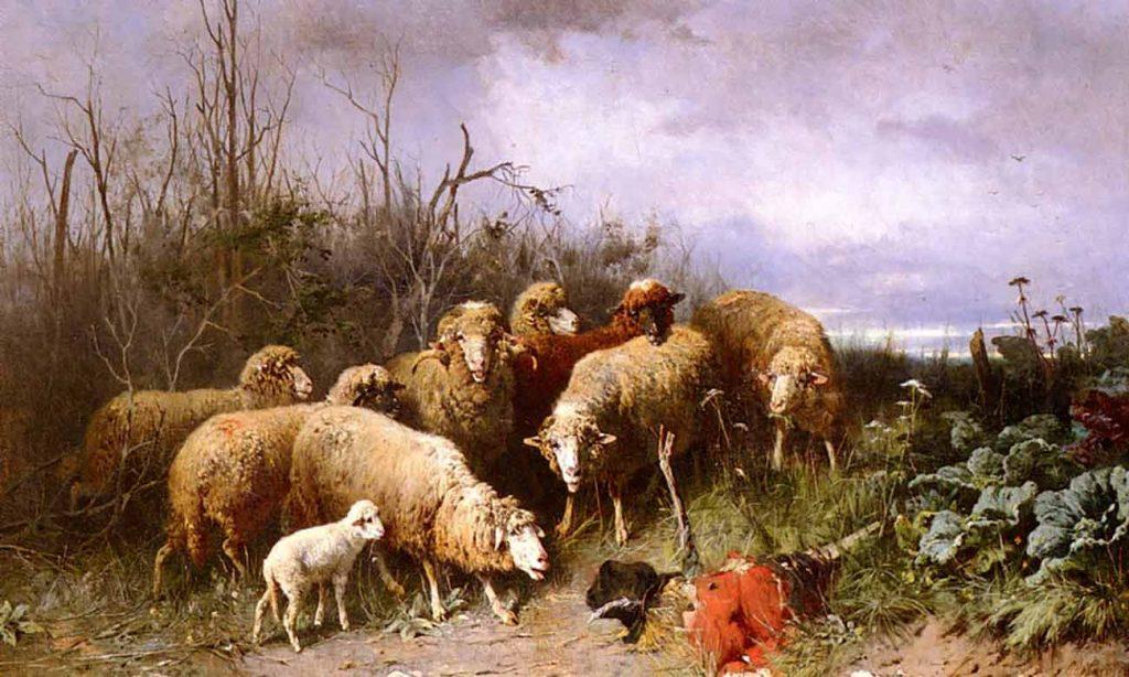Friedrich Otto Gebler Kuş Leşlerine Bakan Kuzular