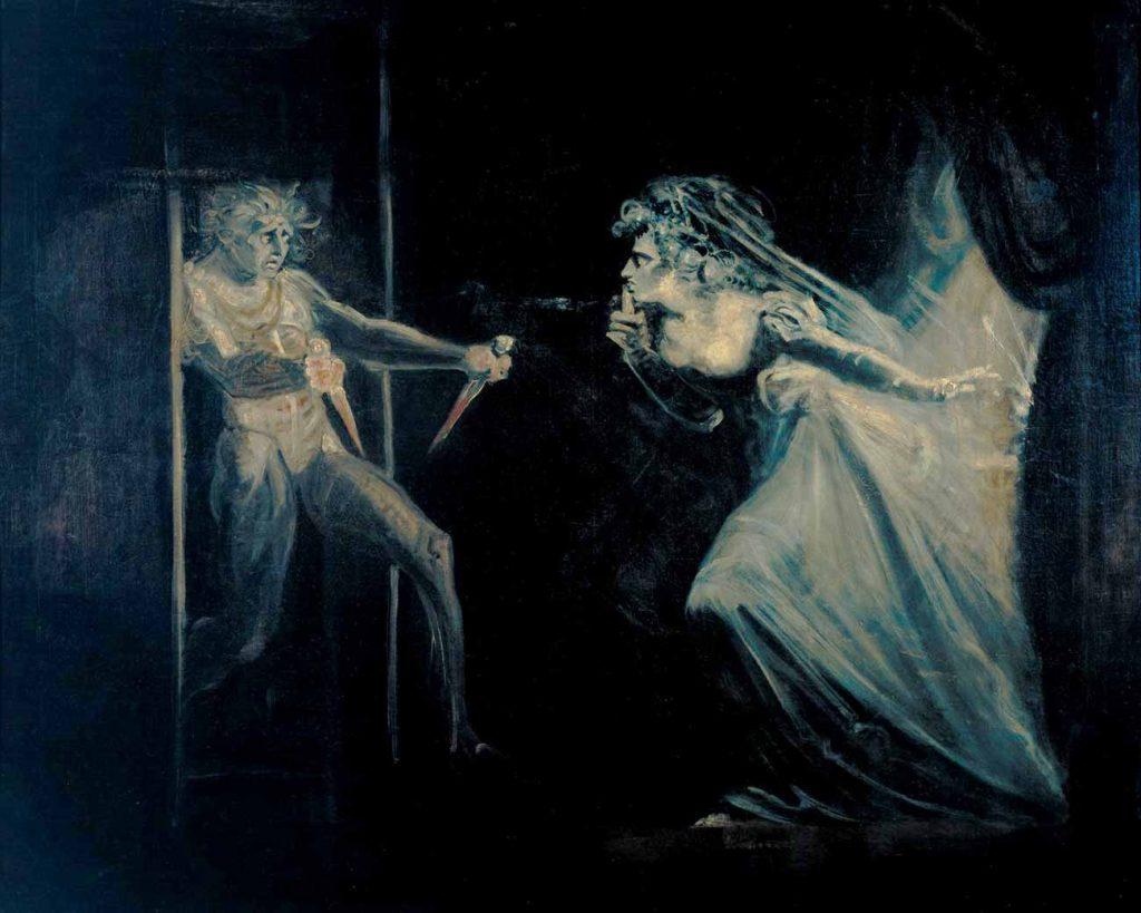 Heinrich Füssli Leydi Macbeth Dolçe'yi İçeri Alırken