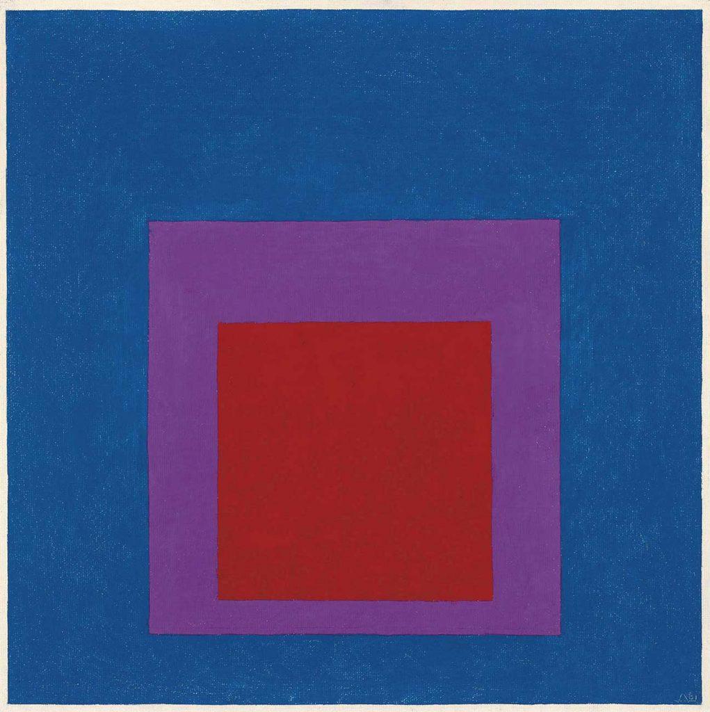 Josef Albers Gök Mavisine Saygı Etüdü