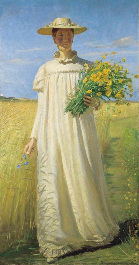 Michael Peter Ancher Anna Archer Tarladan Dönerken