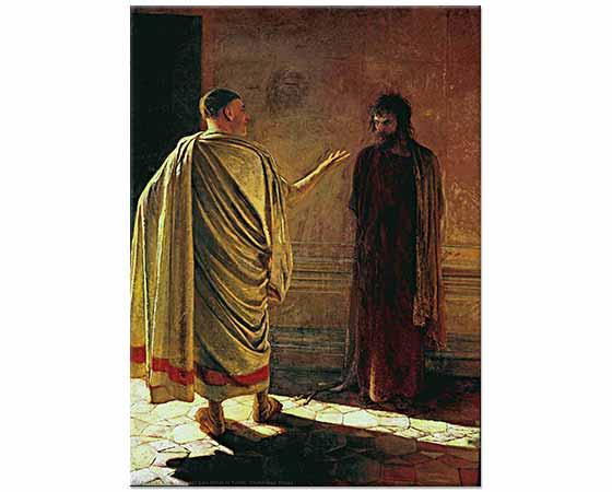 Nikolai Ge Hakikat Nedir? İsa ve Pilate