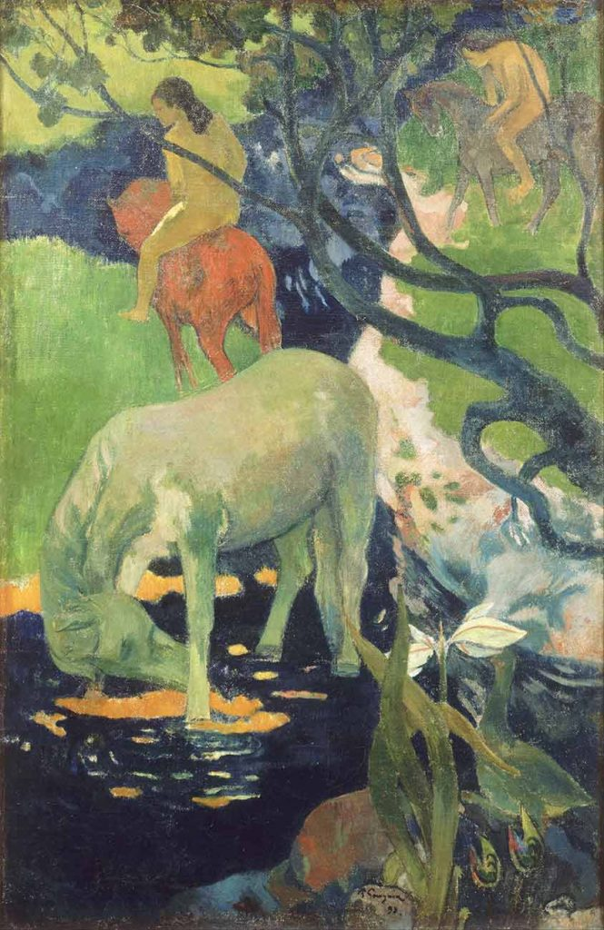Paul Gauguin Beyaz At