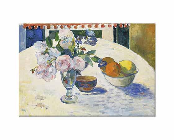 Paul Gauguin Çiçekli ve Meyveli Natürmort