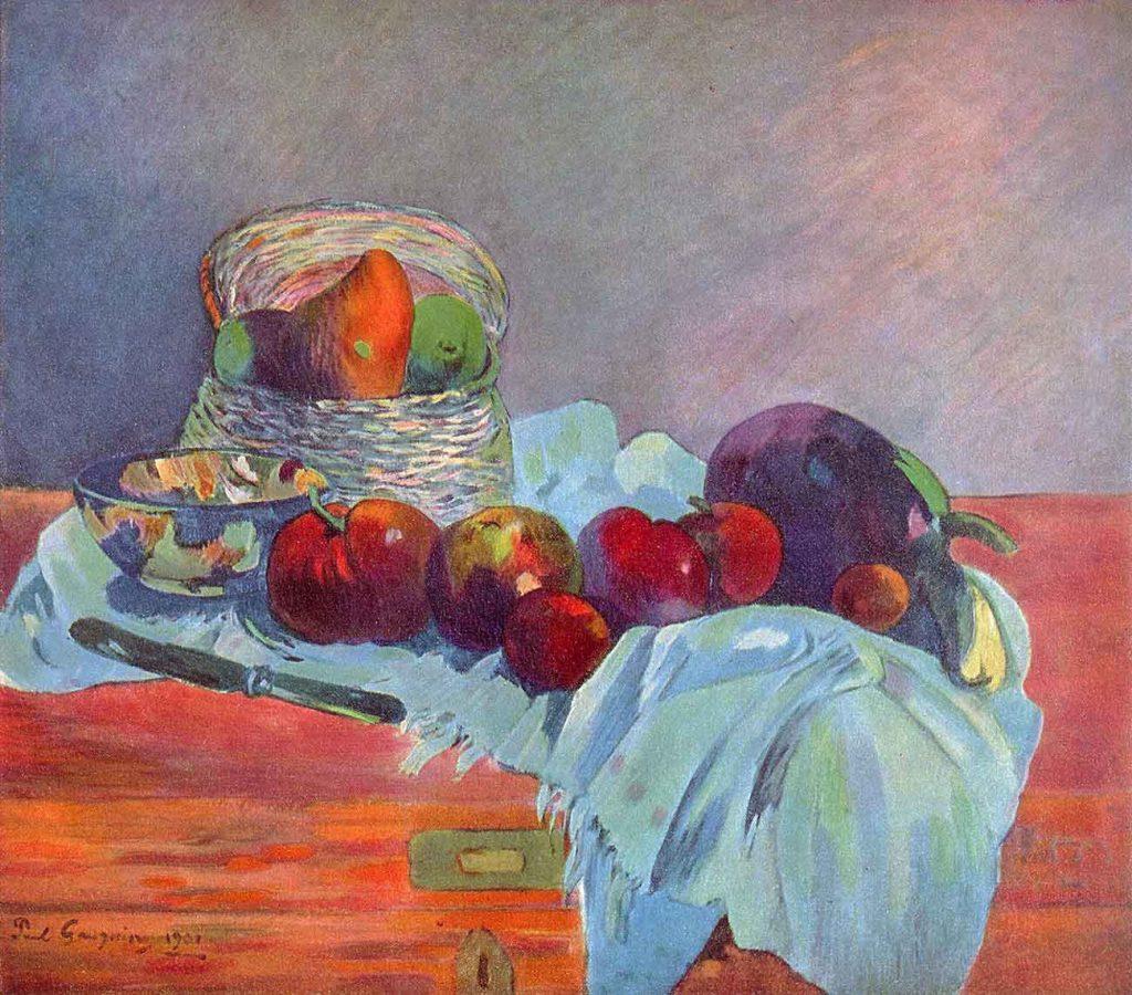 Paul Gauguin Meyve Sepeti ve Bıçaklı Natürmort