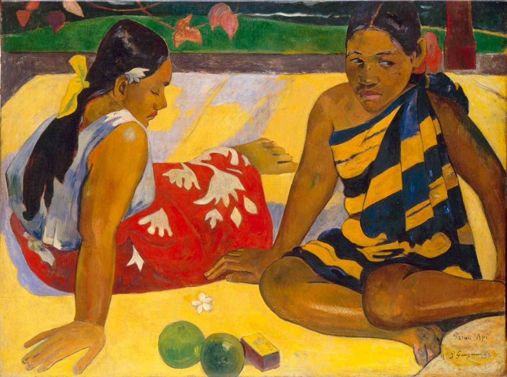 Paul Gauguin Tahitili Kadınlar Otururken