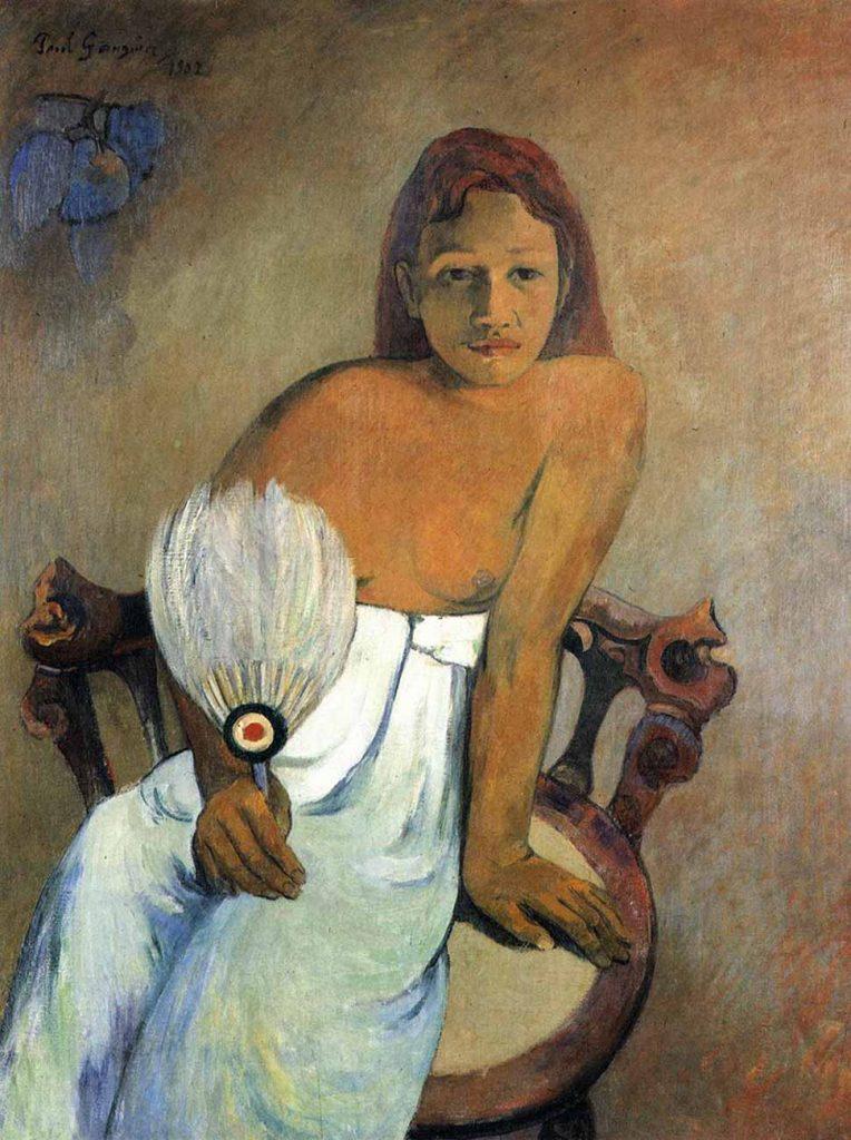 Paul Gauguin Yelpazeli Kız