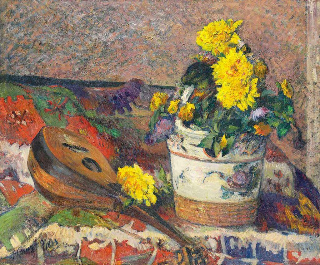 Paul Gauguin Yıldız Çiçekleri ve Mandolin