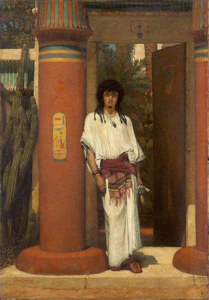 Sir Lawrence Alma Tadema Kapı Önünde Bir Mısırlı