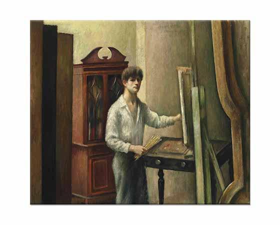 Mark Gertler Sanatçı Stüdyosunda Çalışırken