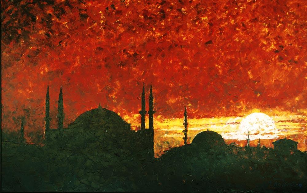 Adviye Özküçük İstanbul'da Gün Batımı