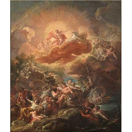 Corrado Giaquinto Güneşin Doğuşu ve Bacchus'un Zaferi