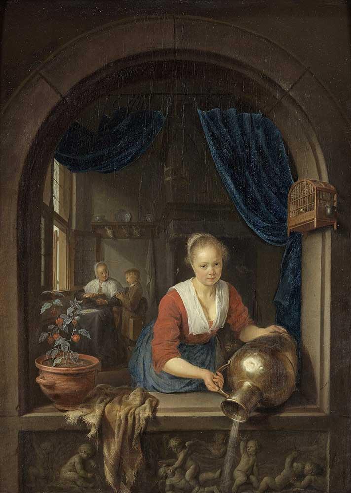 Gerrit Dou Penceredeki Hizmetçi