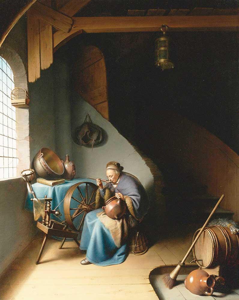 Gerrit Dou Yemek Yiyen Yaşlı Kadın