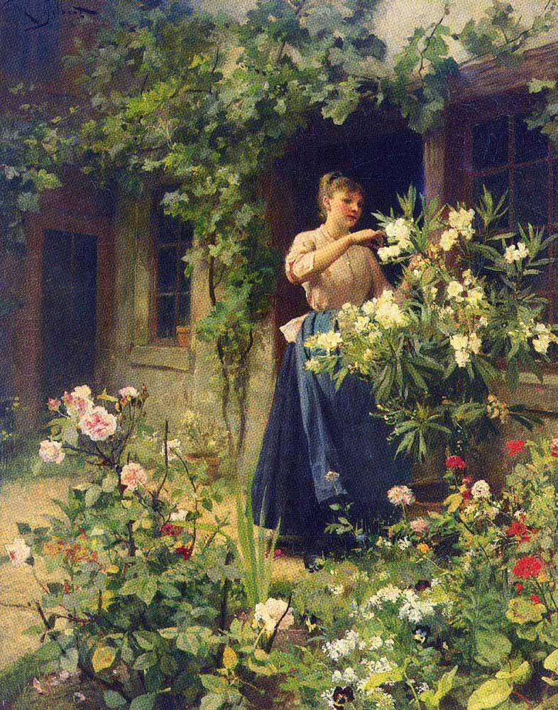 Victor Gabriel Gilbert Bahçe Bakımı