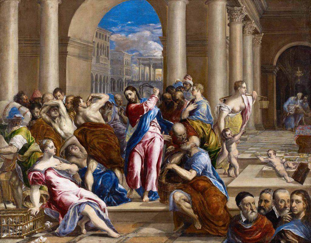 El Greco Sarrafların Tapınaktan Kovuluşu