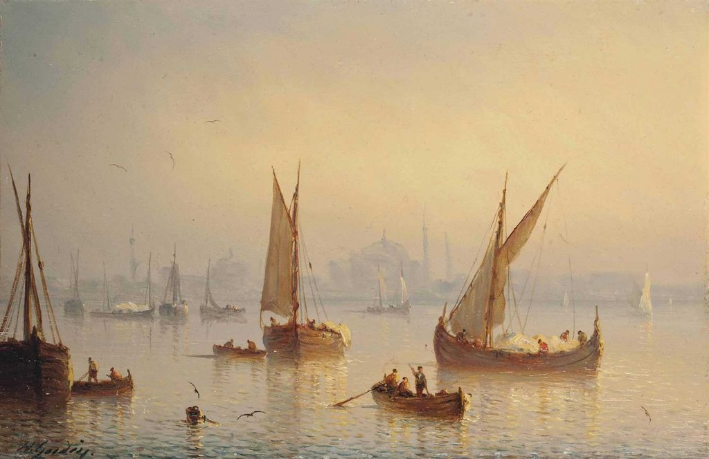 Henriette Gudin Boğaziçi'nde Tekneler