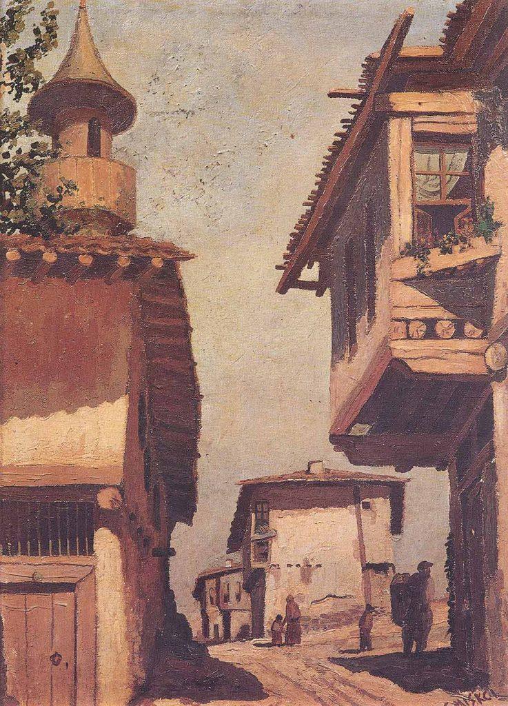 Setrak Miskciyan Eski İstanbul Sokağı ve Evleri