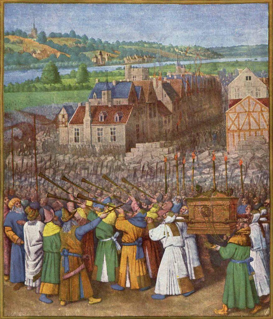 Jean Fouquet Jashua ve Jericho'nun Düşüşü