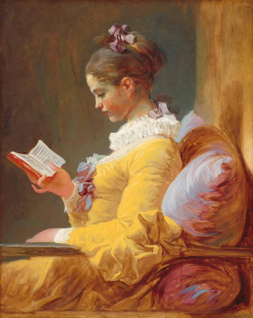 Jean Honore Fragonard Kitap Okuyan Kız