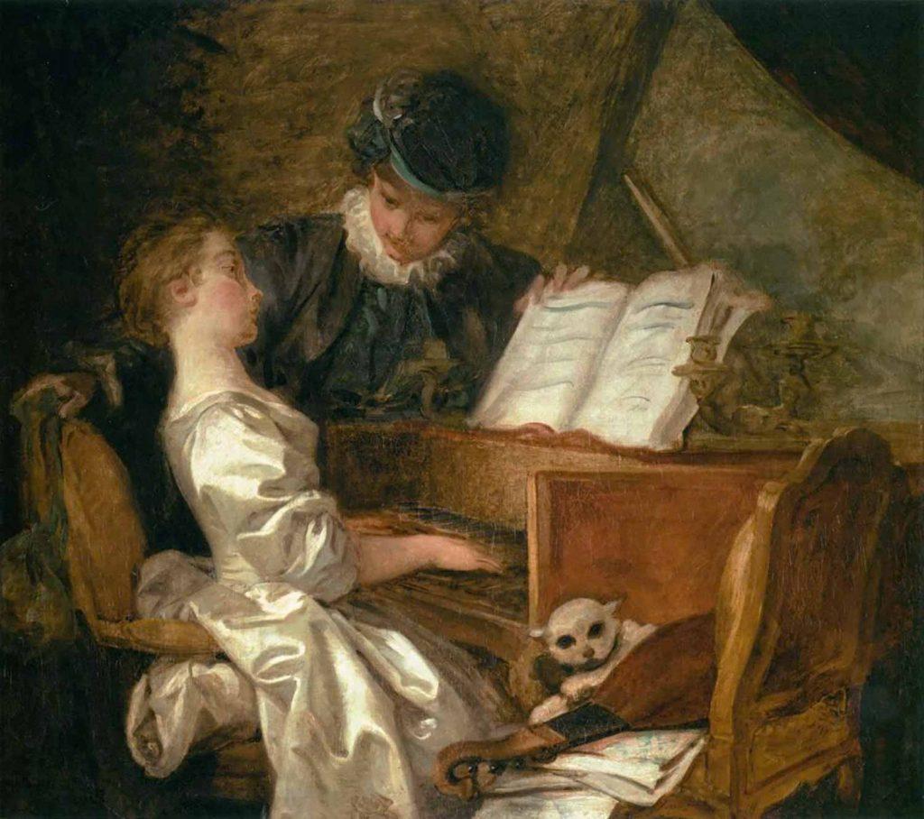 Jean Honore Fragonard Müzik Dersi