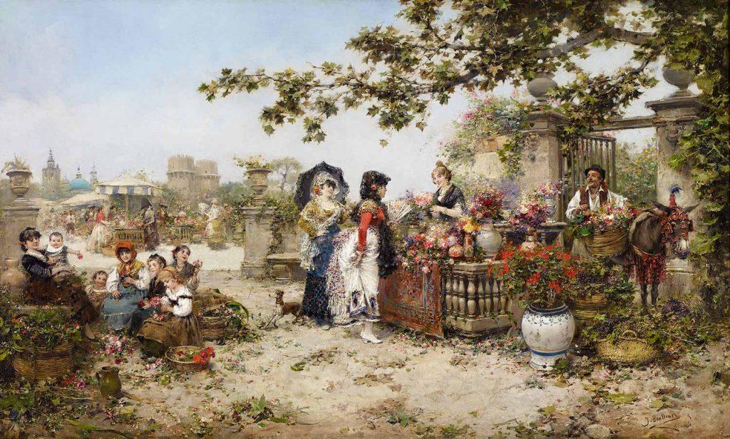 Jose Benlliure Gil Çiçek Pazarı