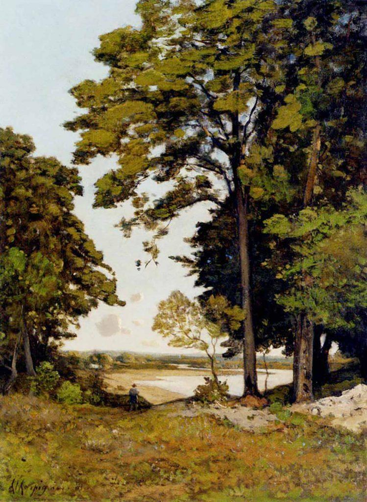 Henri Joseph Harpignies Allier Kıyısında Yaz Günü