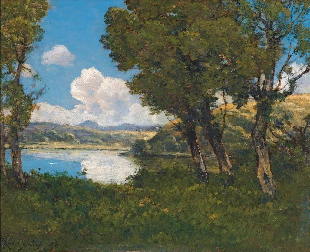 Henri Joseph Harpignies Göl Kıyısı