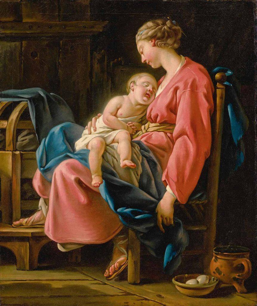 Noel Halle Çocuğunu Uyutan Anne