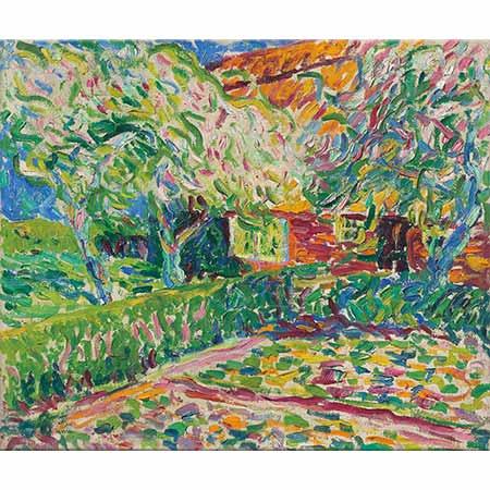 Erich Heckel Çiçek Açmış Elma Ağaçları