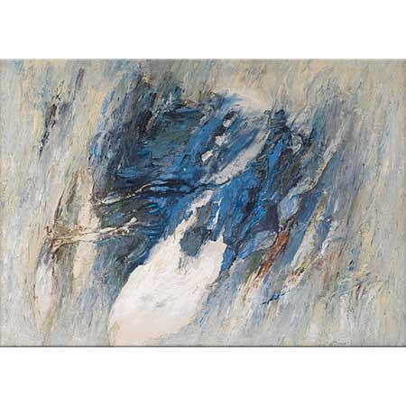 Gerhard Hoehme Yükselen Mavi