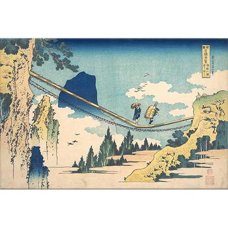 Katsushika Hokusai Asma Köprü ve Etchu Manzarası